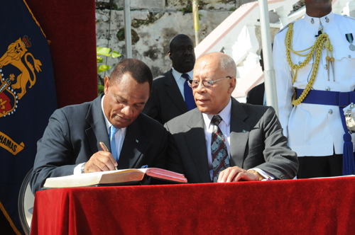 Perry Gladstone Christie Takes Oath as Bahamas Prime Minister
